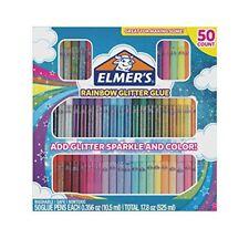 Elmer's Rainbow Glitter Glue Pen Set, Assorted Colors,0.356 Ounces Each,50 count