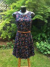 ASOS Glamorous Sleeveless Floral Black Floaty Dress Size 10