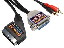 Commodore Amiga A500,A600,A1200 High Quality RGB Scart TV Cable Video Lead 2 MTR