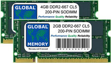 6GB (4gb + 2GB) DDR2 667mhz pc2-5300 200 pines SODIMM Intel iMac (Mid 2007) RAM