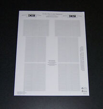 Nortel Desi Labels Meridian M7000 Series Phones, 1 Sheet of 2 Labels NEW!