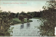 Antique POSTCARD c1907 River Above Clubhouse NASHUA, NH