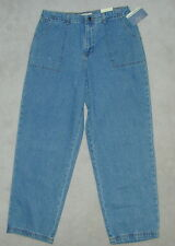 NWT Womens FADED GLORY Relaxed DENIM BLUE JEANS 16 14 12 AT WAIST 32x30 MEXICO
