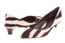 New RALPH LAUREN Zebra 'Delsa' Kitten Low Heel Pumps 6.5 EU 36.5 Retail $525