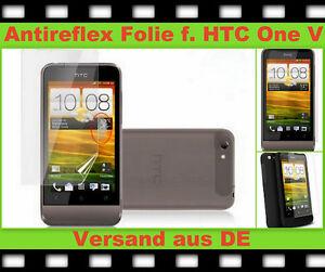 3x Anti reflex Glare Display Schutz folie HTC One V Handy matt SCREEN PROTECTOR