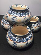 4 Temp-tations Presentable Ovenware Blue Old World 16oz bowls