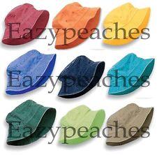 PEACHES - UNISEX DYED BUCKET CAP, Men's, Womens, Adams Packable 100% COTTON Hat