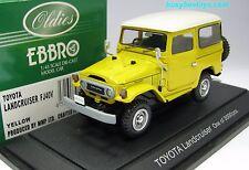 1/43 EBBRO 43406 TOYOTA LAND CRUISER FJ40 BJ40 YELLOW DIECAST SCALE MODEL CAR
