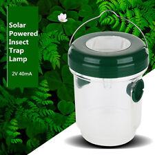 Solar Powered UV LED Mosquito Bug Insect Trap Zapper Killer Light Lantern Garden
