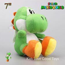 Super Mario Bros. Green Yoshi 7in Plush Toy Soft Stuffed Doll Teddy Nintendo