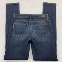 Paige Womens Skyline Skinny Jeans Blue Dark Wash Stretch Denim Pants Juniors 25