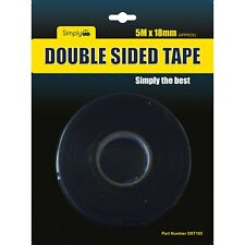 DST185 - TAPE DOUBLE SIDED 18MM X 5 MTR. SIMPLY