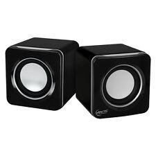 ARCTIC S111 (Schwarz) - 2.0 Lautsprecher Multimedia Boxen für Notebook - PC