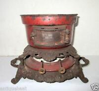Antique Old Cast Iron Enamel British Periodic Cooking Stove Portable Oil Stove