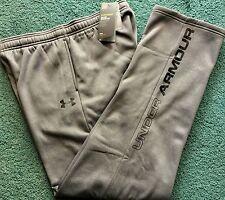 NWT Under Armour Boys XL Dark Gray/Black STORM1 Cold Gear Sweat Pants YXL