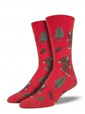 Socksmith Bigfoot Casual Sock Men's Size 8-13 Paprika