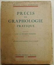 Precis de graphologie pratique - Avec des specimens d'ecritures Dr C STRELETSKI