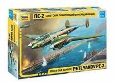 Zvezda 1/72 escala Segunda Guerra Mundial alemán Petlyakov PE-2 avión aeronave modelo kit