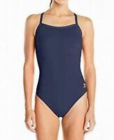Speedo Womens Swimwear Navy Blue Size 10 Endurance Lite Cutout One Piece $69 659