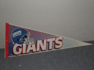 """Vintage 1990's Full 30""""x12"""" NFL Football Felt Pennant New York Giants Wincraft"""