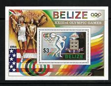 BELIZE, QE11, 1984 OLYMPIC GAMES, MIN SHEET SG MS 788, MNH,