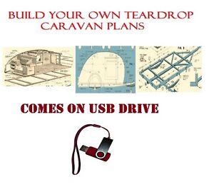 Teardrop Pod Caravan Tear Drop Plans USB Camper Trailer RV Pop Up How to Build