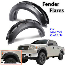 Pickup Fender Flares Pocket Rivet For Ford F150 04-08 Textured Set Bolt On Black
