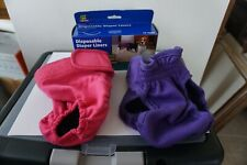 Washable Doggie Diapers, Female Diaper, with Liners, Size Small, Pink and Purple