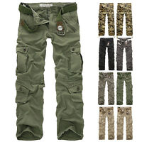Herren Camouflage Sport lässig Cargo Pants Militär Trousers Casual Freizeithose
