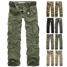 Herren Camouflage Sport Cargo Pants Militär Trousers Casual Freizeithose!