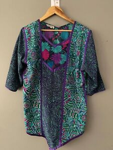 MAGGIE SHEPHERD Vintage Blouse Top Size M Casual