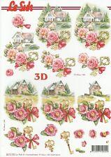 Feuille 3D à découper A4 - 8215.730 Clé Fleur Paysage - Decoupage Sheet Key