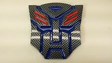 Carbon Blue 3D Autobot 4 Inch Transformers Emblem Badge Decal Car Stickers Truck