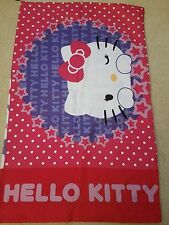 Hello Kitty 5 Piece Bedroom Set with Curtains, Pillow Sham, Case and sheet.