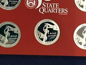 2015-S New York Saratoga ATB Silver Gem DCAM Proof Quarters Lot of 5 coins