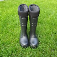 High Quality Black Thermal LIGHTWEIGHT EVA MATERIAL Wellies Wellingtons Boots