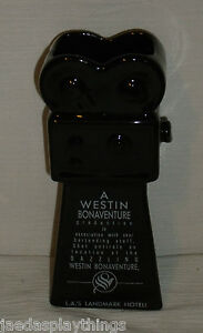 "Westin Bonaventure Hotel Ceramic TECHNICOOLER Black Ceramic Camera 7"" Cocktail"