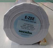 50m Stickvlies weiß Cotton Soft zum Wegreißen, 30 cm breit, Madeira, 50 gr/m²