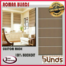 Custom Made Roman Blinds 1210 x 1200 Blind Blockout Window Furnishings Shade