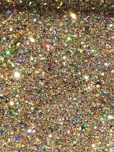"Nail Art Fine Holographic Shimmer Glitter Mix - ""GOLD SHIMMER"" 5g Bag"