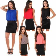 Stretch Sleeveless Tops & Shirts for Women with Pleated