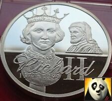 KING RICHARD II SILVER PROOF COIN MEDAL+ COA, ONLY 15,000 WORLDWIDE!