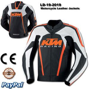 KTM Motorbike Motorcycle Rider Leather Jacket LD-19-2019 ( US 38-48 )
