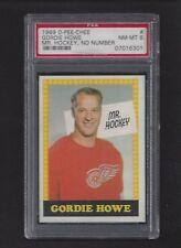 1969 OPC #193 Gordie Howe, HOF, PSA 8 NM-MT, Red Wings Vintage Hockey 1969-70