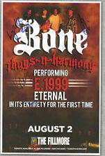 Bone Thugs n Harmony autographed gig poster Wish Bone, Flesh-N-Bone, Layzie Bone