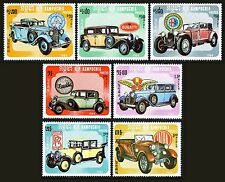 CAMBODGE Kampuchea N°491/497** Voitures  automobile 1984, CAMBODIA Sc#518-24 MNH