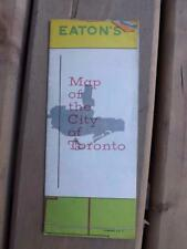 EATONS MAP OF THE CITY OF TORONTO POINTS OF INTEREST STORE LOCATIONS VINTAGE