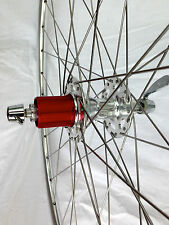 SunXCD Wheelset high flange hubs, polished alloy rims 650B x 32 hole 130/120 OLN