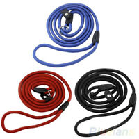 Pet Dog Nylon Rope Training Leash Slip Lead Strap Adjustable Traction Collar New