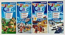 ©2006 Playmobil FUN CARD 1-4 JÄGER/RETTUNG/RÖMER/FLUGHAFEN Neu! Sticker/Diorama
